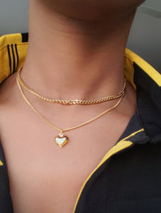 JUNE HEART  CHOKER Necklace 13'' (TF)