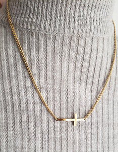 CARRIE CROSS  Necklace 17'' With matching Bracelet (TF)