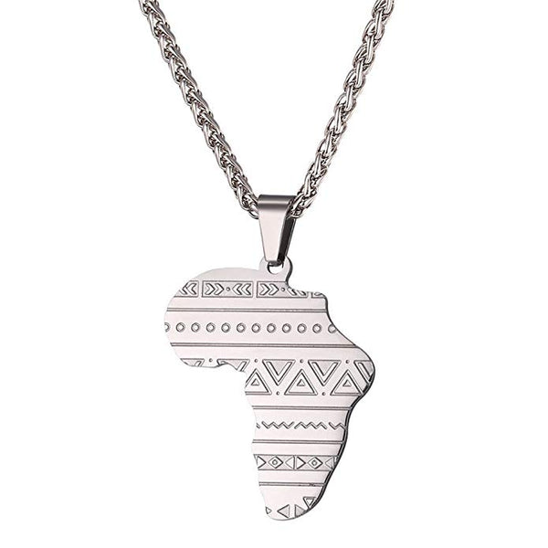 Mystic symbols Africa Map Pendant Necklace  (TF) - ebrook lael
