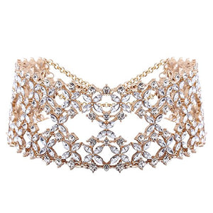 Queen Kira rhinestones decor choker NECKLACE - ebrook lael