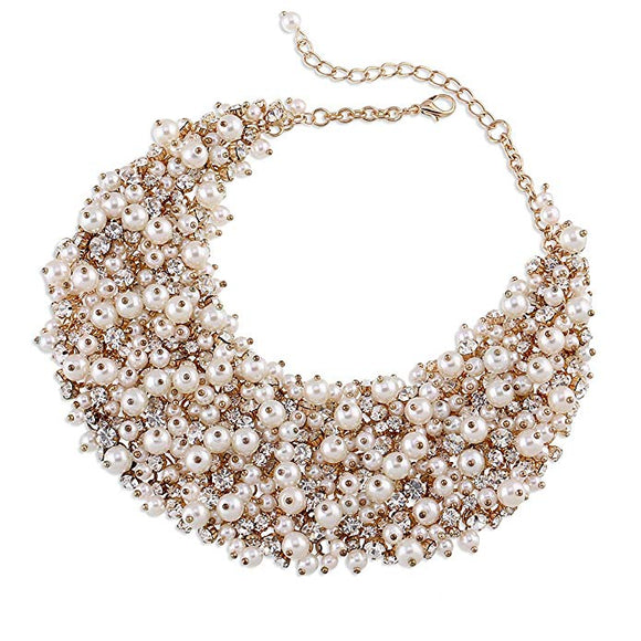 Lula glitz and glam pearl statement necklace - ebrook lael