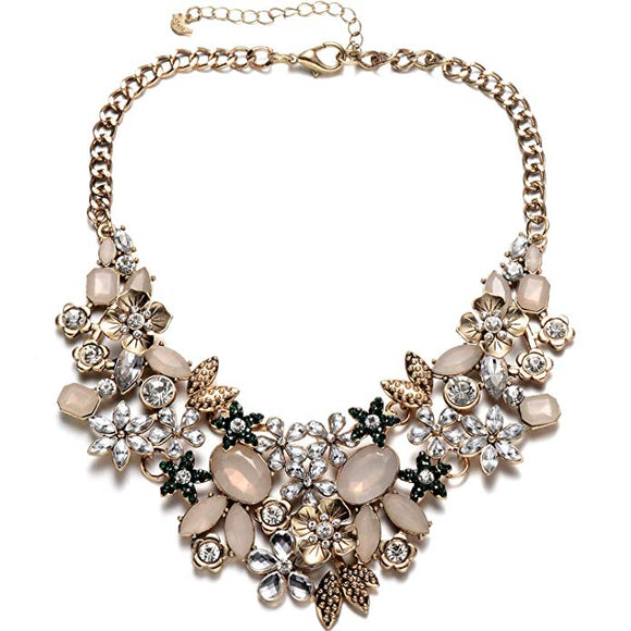 GEM collar statement necklace Tarnish free - ebrook lael