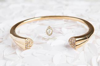 Open HEART Diamond Bangle TARNISH FREE - ebrook lael