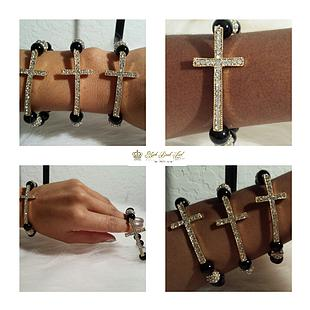 Pave cross bracelet (ladies) - ebrook lael