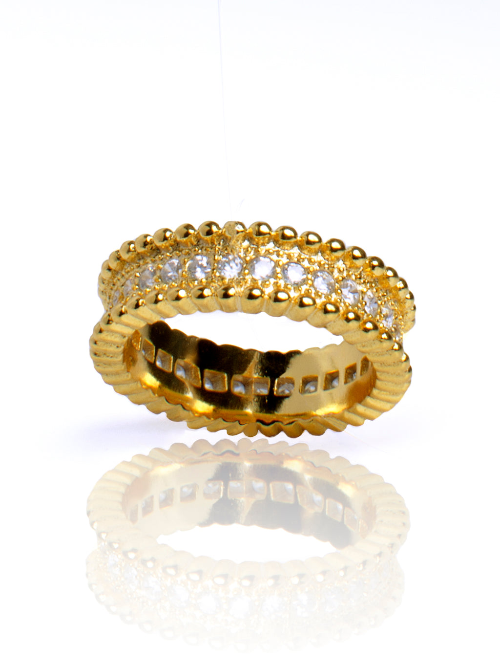 ANNA Gold eternity band Tarnish Free - ebrook lael