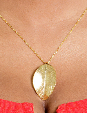 TEXTURE LEAF Necklace TARNISH FREE - ebrook lael