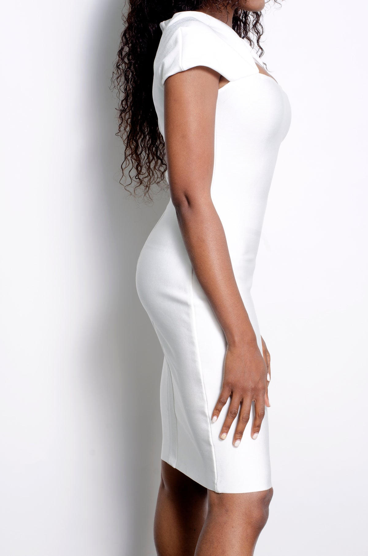White Mya bandage dress - ebrook lael