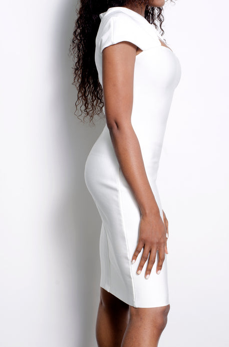 White Mya bandage dress - ebrooklael