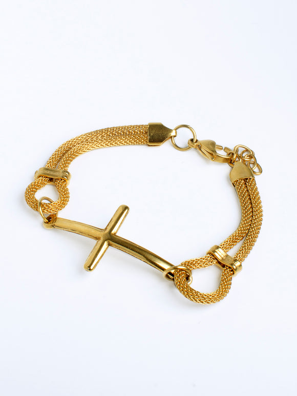 MESH-THING  CROSS bracelet (TF) - ebrook lael