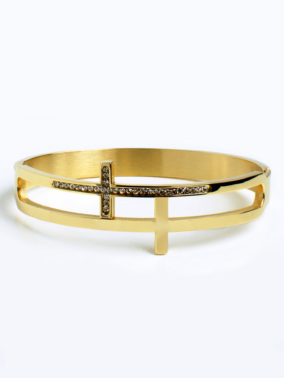 Double CROSS bangle (TF) - ebrook lael