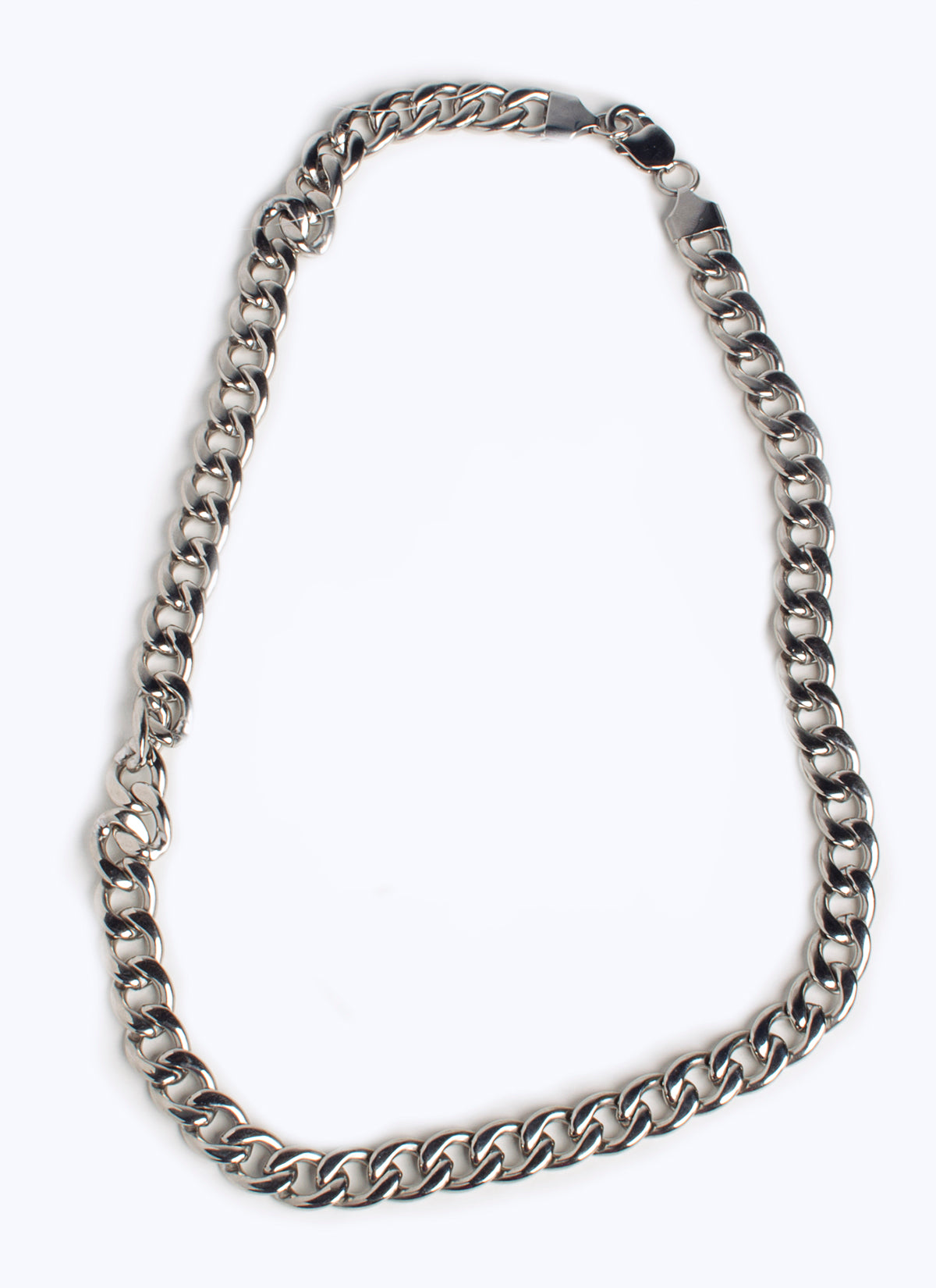 Unisex Silver CHAIN NECKLACE -(TF) - ebrook lael