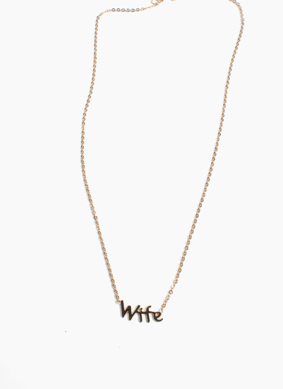 WIFE Necklace - (TF) - ebrook lael