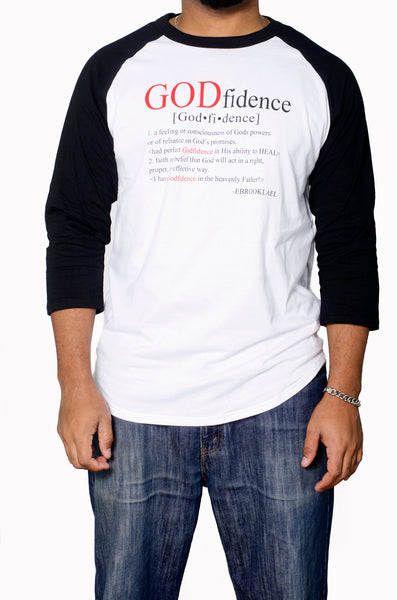 """GODfidence "" MEN shirt - ebrook lael"