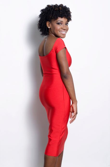 Asa red bandage dress - ebrooklael