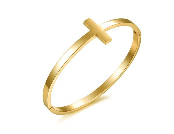 Solid  Cross bangle (TF) - ebrook lael