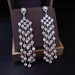 FEFE-Zirconia Chandelier Earrings - ebrook lael