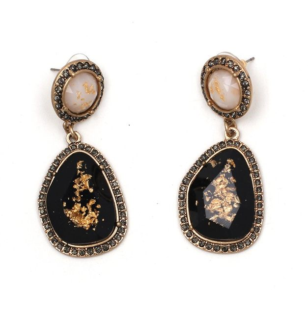 Onyx Teardrop Earrings (N-TF) - ebrook lael