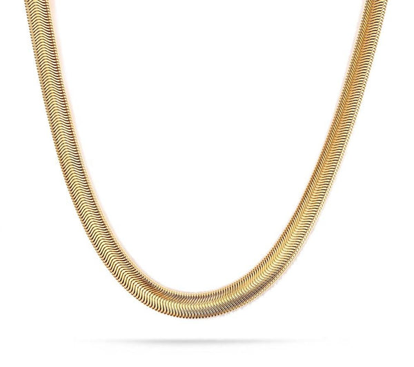 Herringbone Chain Necklace (Unisex-TF)