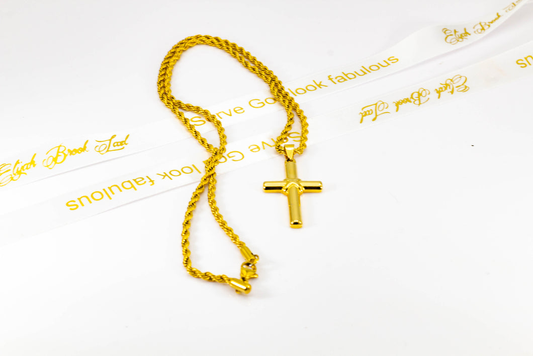 Medium Gold cross  necklace  (TF)