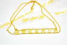 Load image into Gallery viewer, Mel·a·nin old English Choker 18k (TF)
