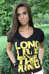 """Long live the KING  "" ladies V-neck - ebrook lael"