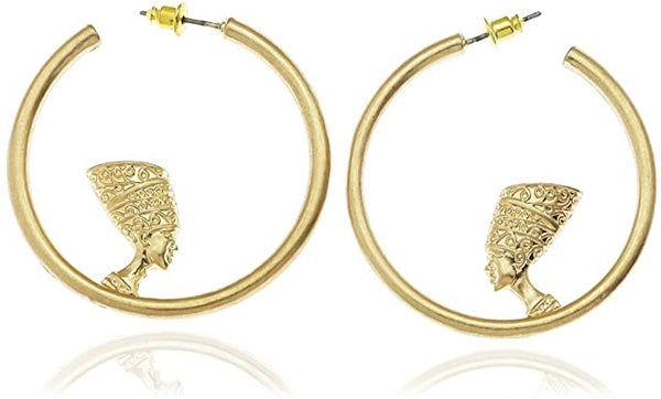 Nefertiti Medium hoops  (N-TF) - ebrook lael