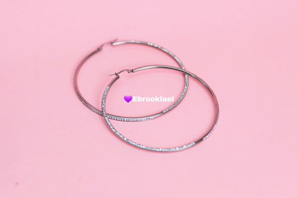 Medium silver hoops (TF) - ebrook lael