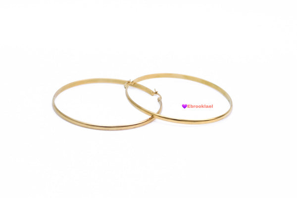 Lee Lee medium Gold hoops (TF) - ebrook lael