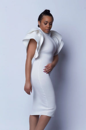 VIP Purely demanding Dramatic shoulder dress - ebrook lael