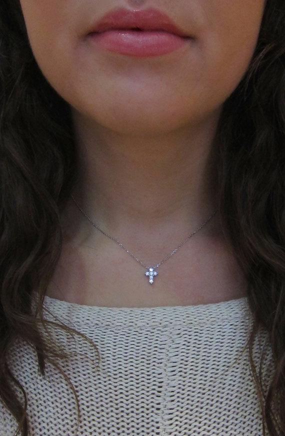 CROSS-STONE  Necklace (TF) - ebrook lael
