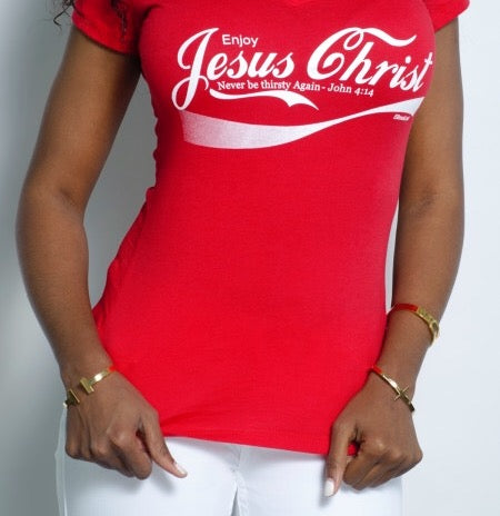 "WOMEN ""Enjoy Jesus Christ "" (Crew neck) - ebrook lael"