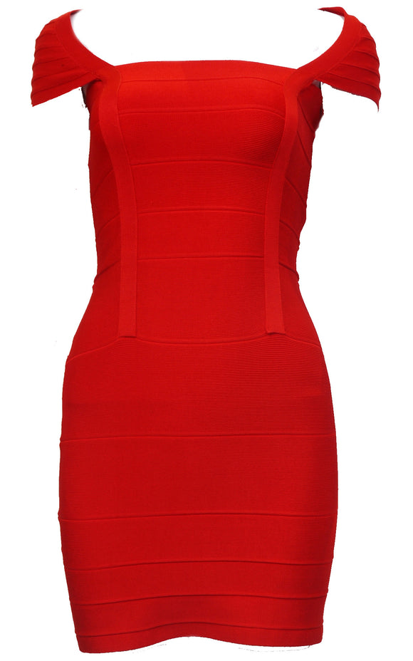 Scarlee red bandage dress - ebrook lael