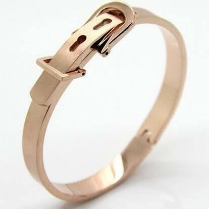 Belt Buckle rose gold bangle (TF) - ebrook lael