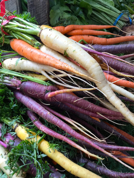 Rainbow Blend carrot image##Photo: Chuck Burr, blend simulation, mix results vary.##