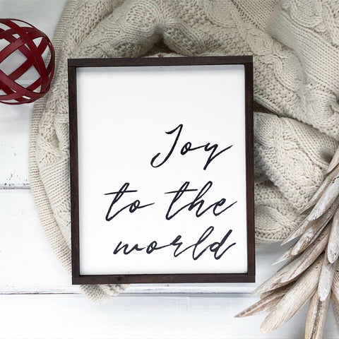 """Joy to the World"" - 8"" x 10"" - Ready to Ship"