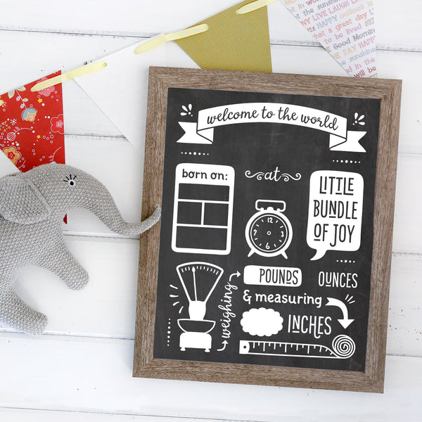 Additional Insert: Baby Birth Stats Chalkboard