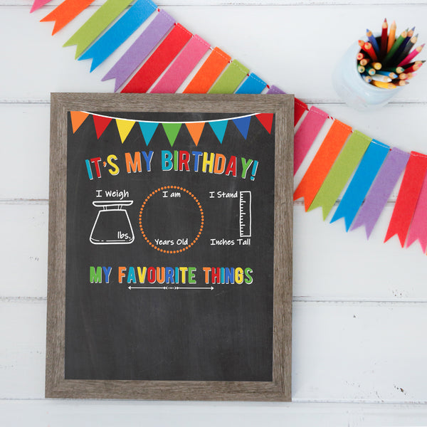 Additional Insert: Birthday Board - Bright Colors