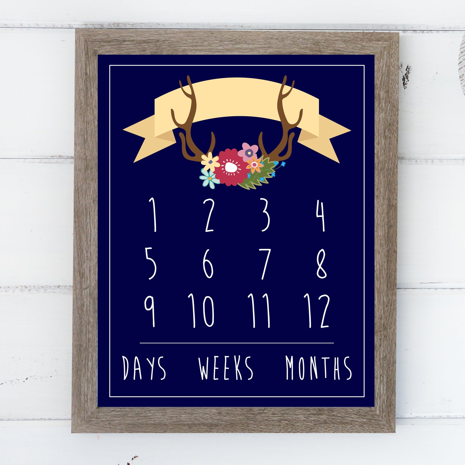 Additional Insert: Boho Numbers - Baby Day/Week/Month Tracker