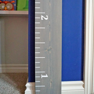 Standard Growth Chart Ruler - Medium Grey Stain