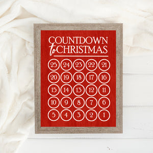 Additional Insert: Countdown to Christmas - Red