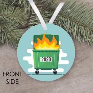 Dumpster Fire COVID 2020 Ornament