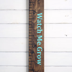Standard Growth Chart Ruler - Medium Brown Stain