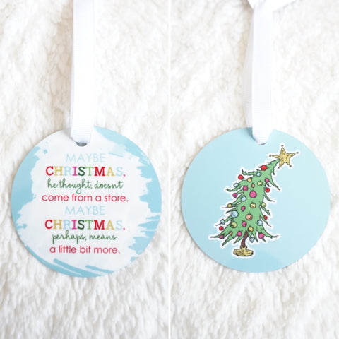 Means a Little Bit More Grinch Ornament
