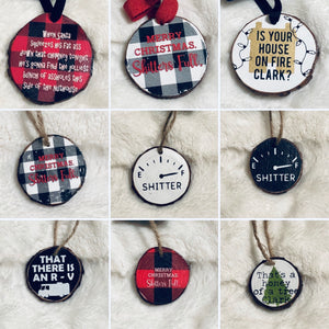 National Lampoons Christmas Vacation Themed Ornaments - Live Edge