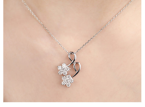 18K Gold 0.91ct Natural Diamond Pendant Necklace for Women