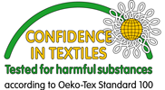 Confidence in Textiles. Tested for harmful substances according to Oeko-Tex Standard 100