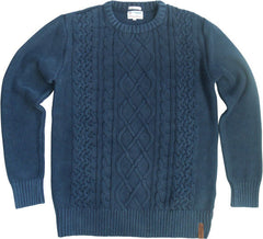 Round Neck Cable Knit Sweater