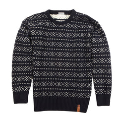 Knowledge Cotton Apparel Jacquard Knit Sweater