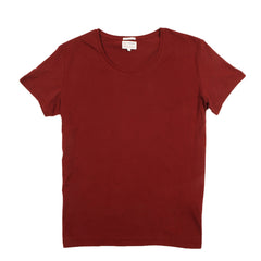 Knowledge Cotton Apparel O Neck T Shirt Red