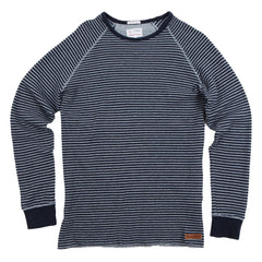 Knowledge Cotton Apparel Striped Thermal